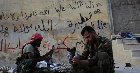 FSA Rebels Clean Their AK47s