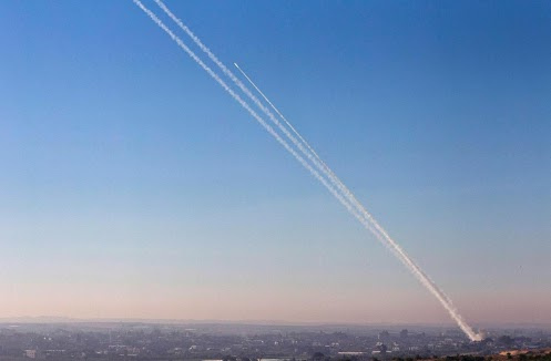 Qassam Rocket fired from Gaza