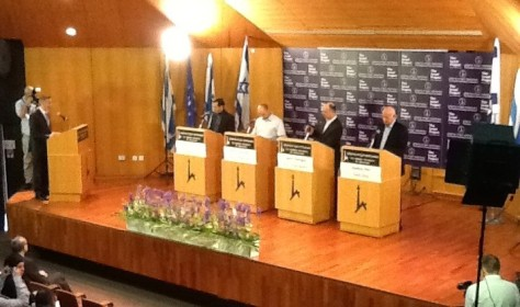 The candidates at the Hebrew University