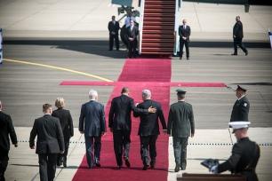 Obama and Netanyahu at Ben Gurion