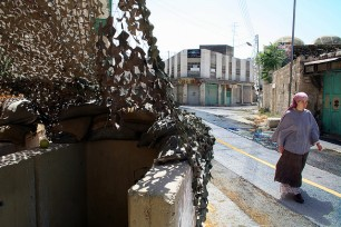 Israeli woman in Hebron